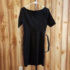 62f00c52 Modcloth Dresses   Black Ritzy Wishes Sheath Dress With Belt   Poshmark